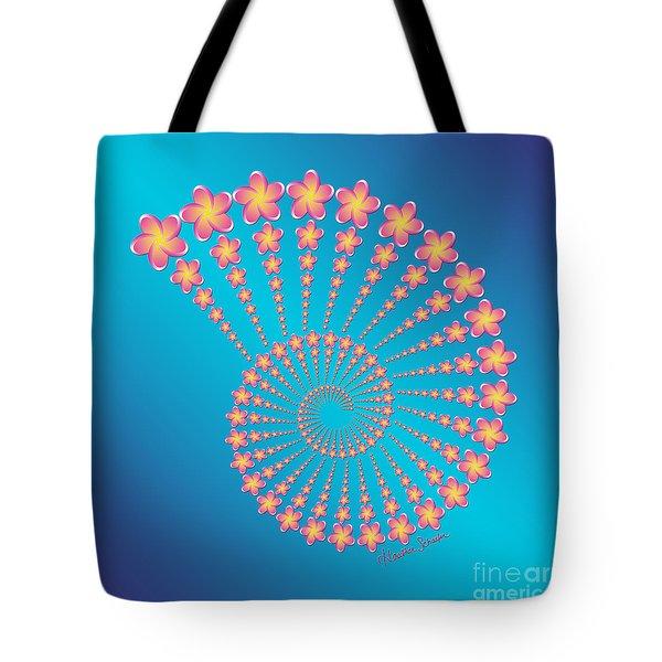 Denise's Frangipani  Spiral Shell Tote Bag