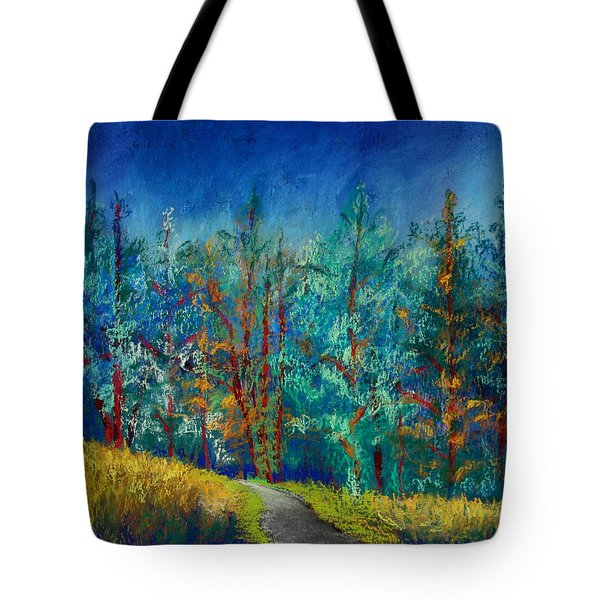 Tote Bag featuring the painting Dense Forest by Karin Eisermann