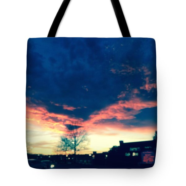 Dense Sunset Tote Bag