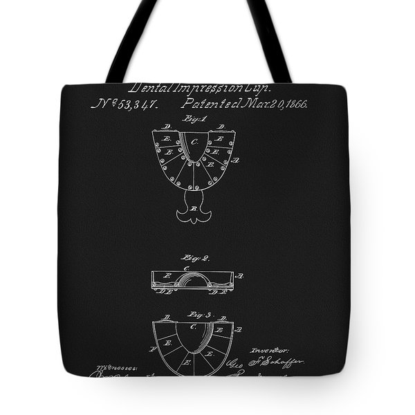 Dental Mold Patent Tote Bag by Dan Sproul