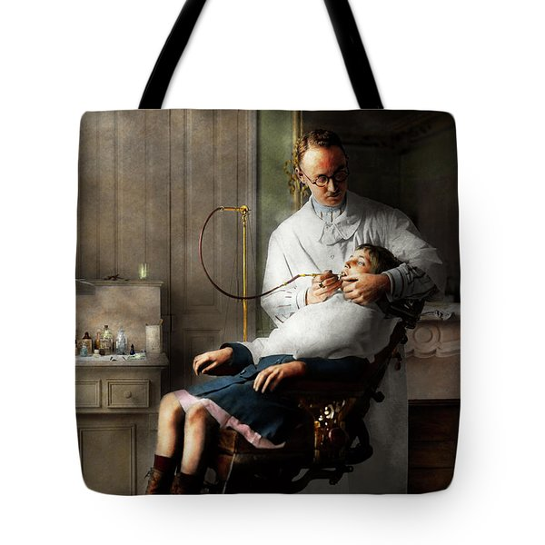 Tote Bag featuring the photograph Dentist - Good Oral Hygiene 1918  by Mike Savad