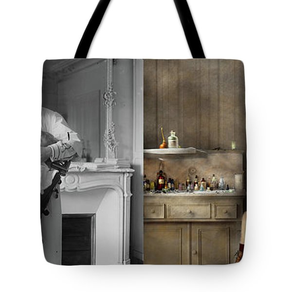 Tote Bag featuring the photograph Dentist - Good Oral Hygiene 1918 - Side By Side by Mike Savad