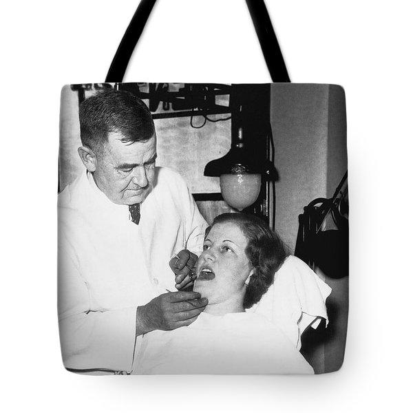 Dentist Has Cure For Pyorrhea Tote Bag