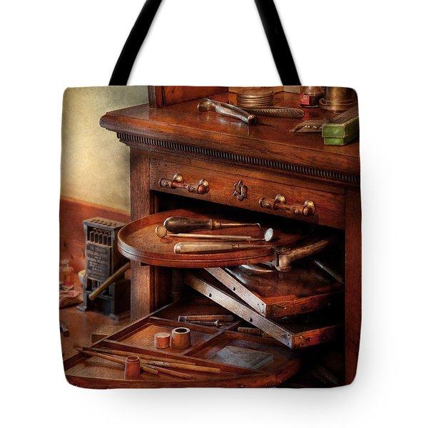 Dentist - Lab - Dental Laboratory  Tote Bag by Mike Savad