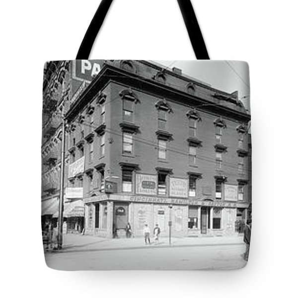 Tote Bag featuring the photograph Dentist - Peerless Painless Dental Parlors 1910 - Side By Side by Mike Savad