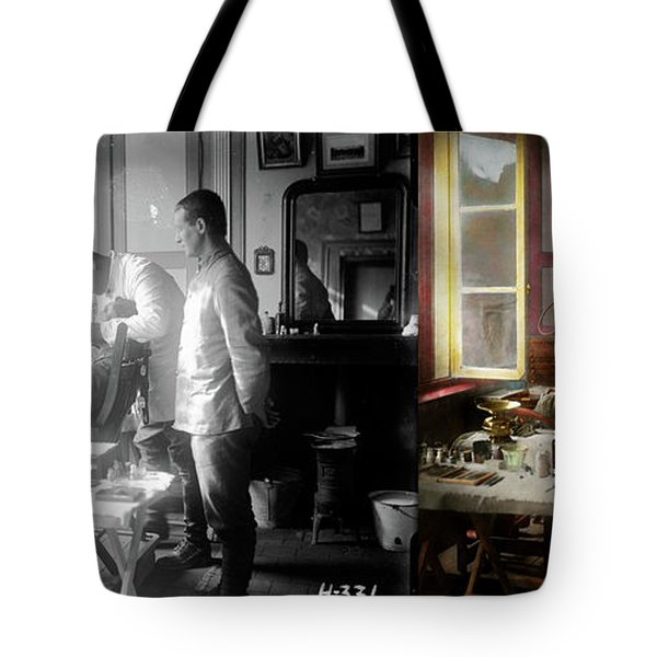 Tote Bag featuring the photograph Dentist - The Horrors Of War 1917 - Side By Side by Mike Savad
