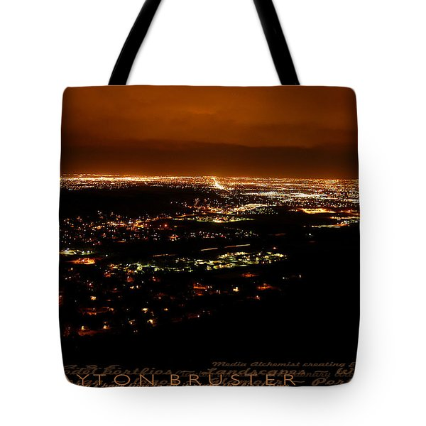 Denver Area At Night From Lookout Mountain Tote Bag