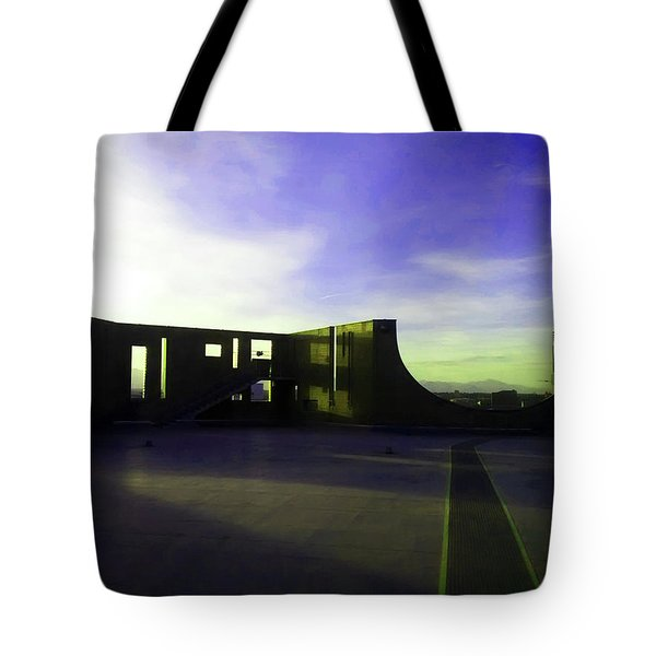 Tote Bag featuring the photograph Denver Art Museum Deck 1 by Marilyn Hunt