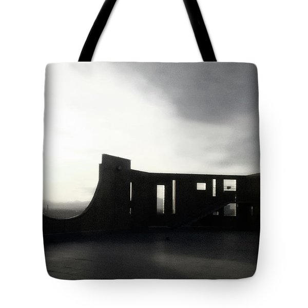 Tote Bag featuring the photograph Denver Art Museum Ponti 2 by Marilyn Hunt
