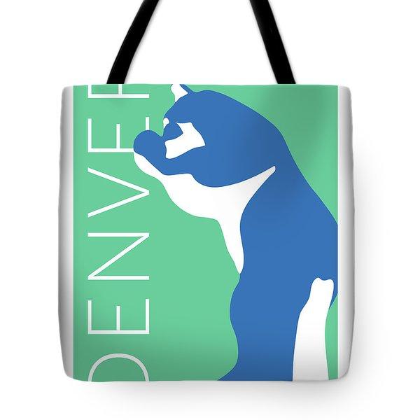 Denver Blue Bear/aqua Tote Bag
