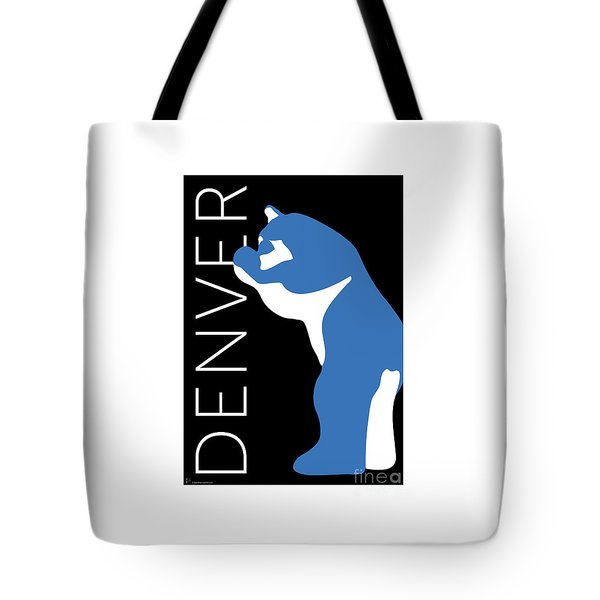 Denver Blue Bear/black Tote Bag