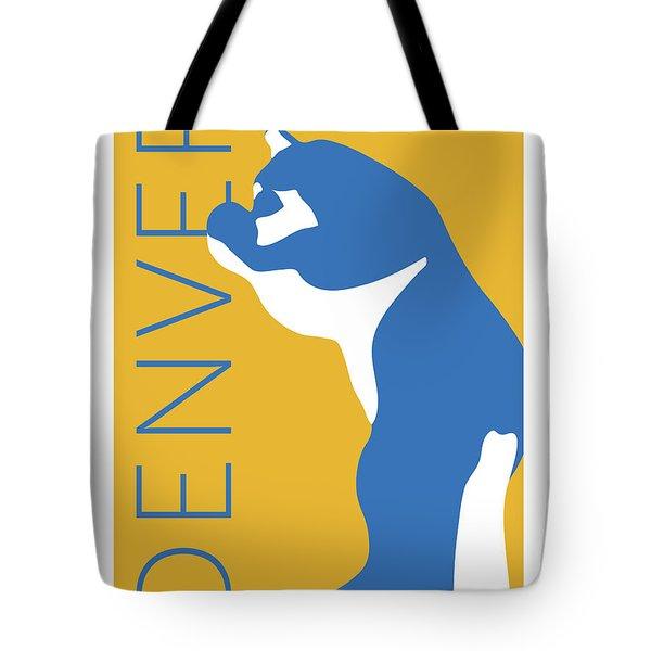 Denver Blue Bear/gold Tote Bag