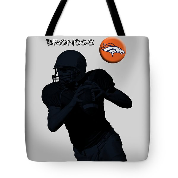 Denver Broncos Football Tote Bag by David Dehner