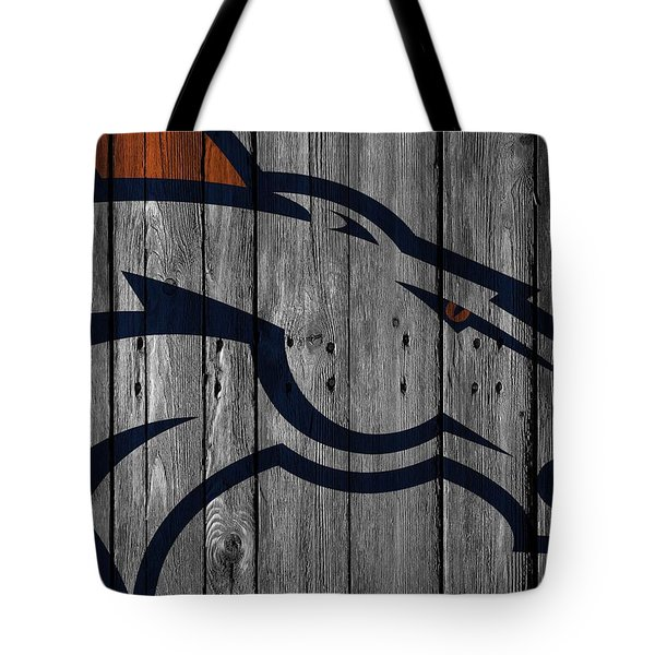 Denver Broncos Wood Fence Tote Bag