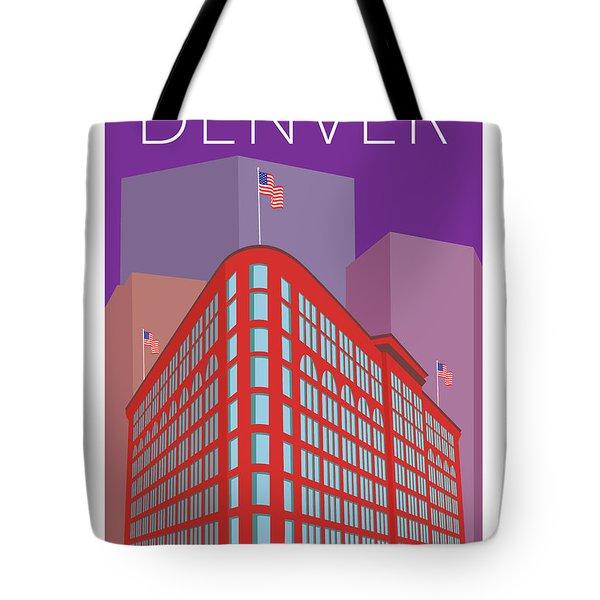 Denver Brown Palace/purple Tote Bag