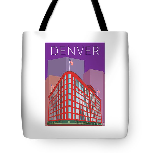 Denver Brown Palace/purple Tote Bag