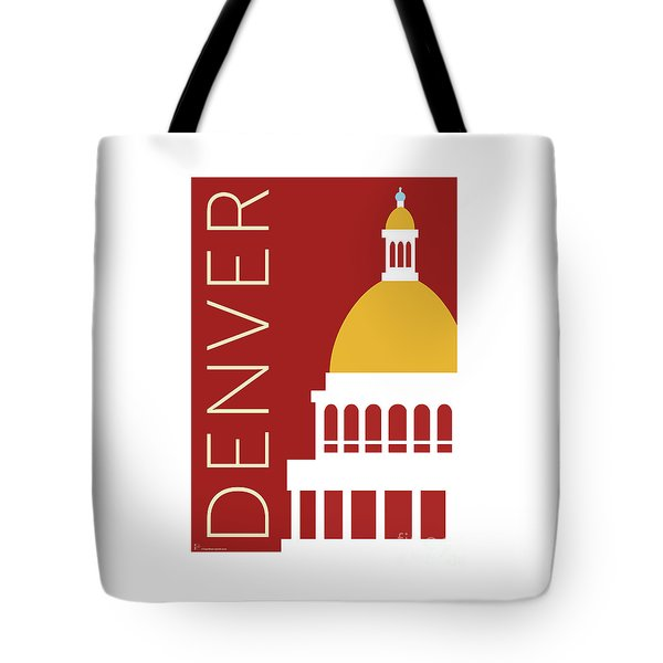 Denver Capitol/maroon Tote Bag