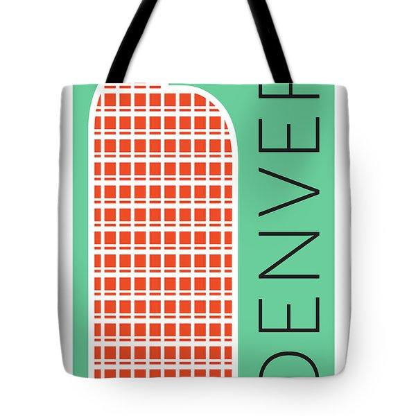 Denver Cash Register Bldg/aqua Tote Bag