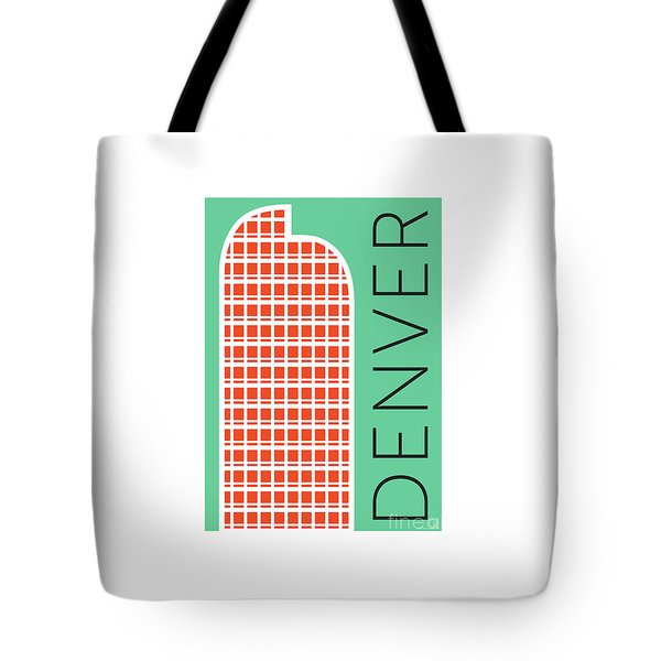 Denver Cash Register Bldg/aqua Tote Bag