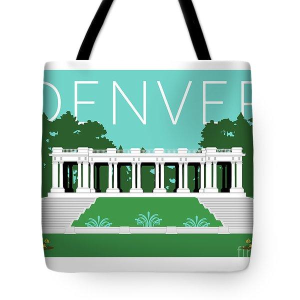 Denver Cheesman Park/lt Blue Tote Bag