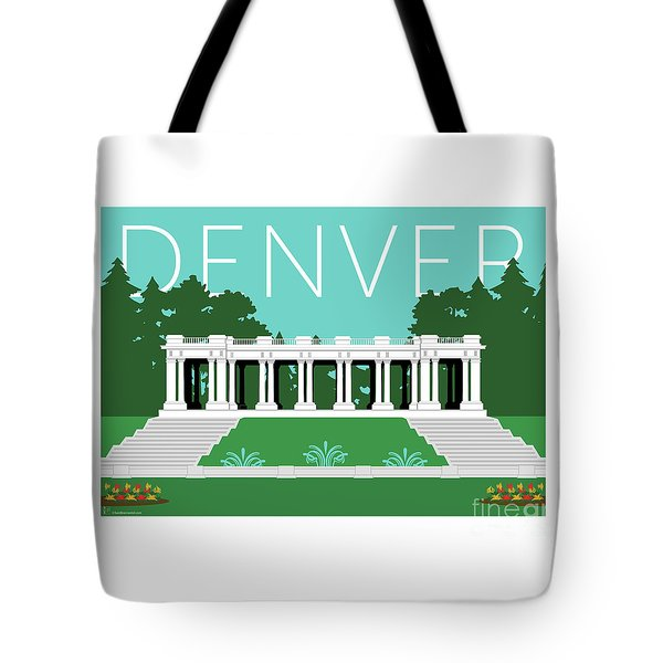 Tote Bag featuring the digital art Denver Cheesman Park/lt Blue by Sam Brennan