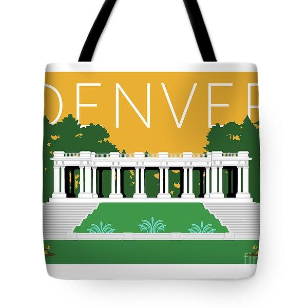 Denver Cheesman Park/gold Tote Bag