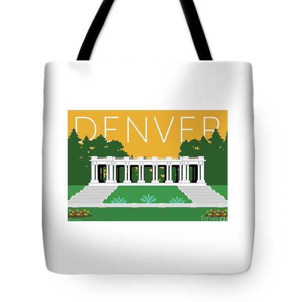 Tote Bag featuring the digital art Denver Cheesman Park/gold by Sam Brennan