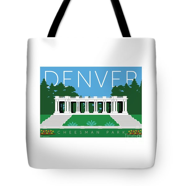 Tote Bag featuring the digital art Denver Cheesman Park by Sam Brennan