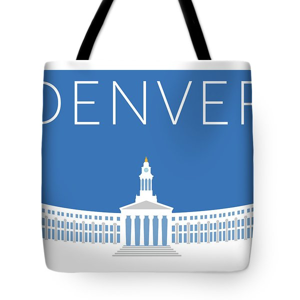 Denver City And County Bldg/blue Tote Bag