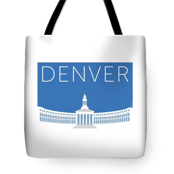 Denver City And County Bldg/blue Tote Bag