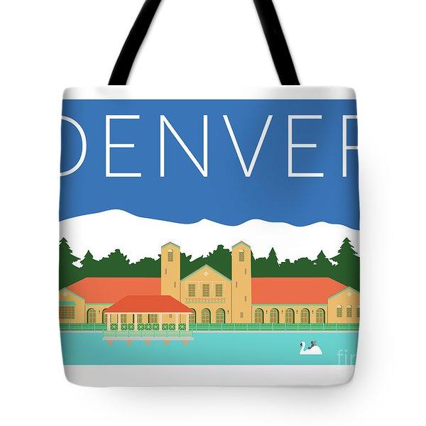 Denver City Park/blue Tote Bag