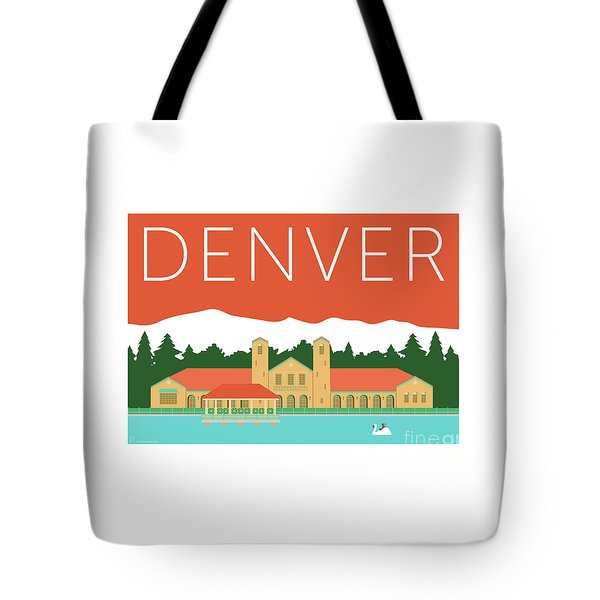 Denver City Park/coral Tote Bag
