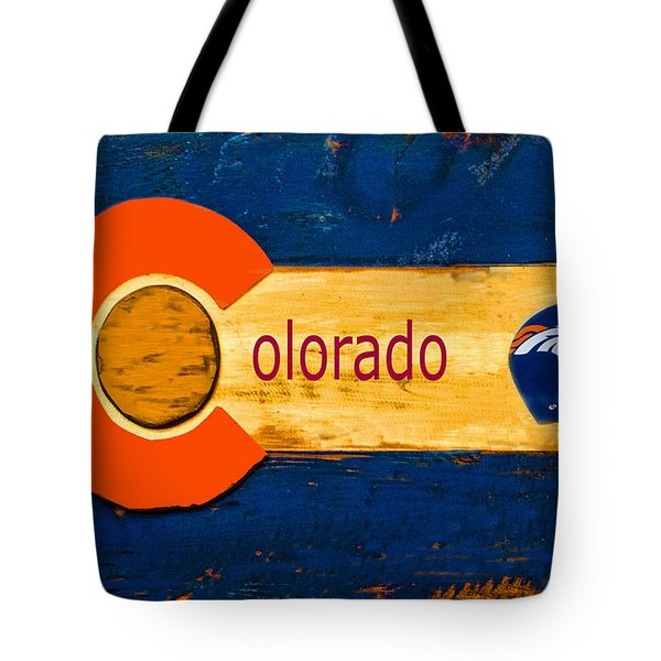 Denver Colorado Broncos 1 Tote Bag