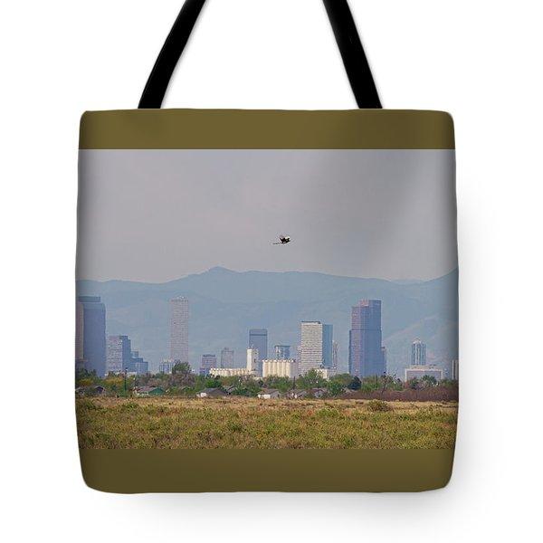 Denver Colorado Pretty Bird Fly By Tote Bag by James BO Insogna