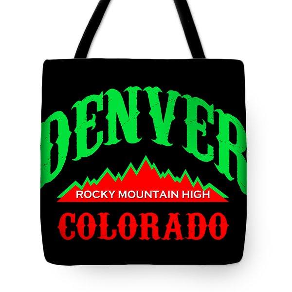 Denver Colorado Rocky Mountain Design Tote Bag