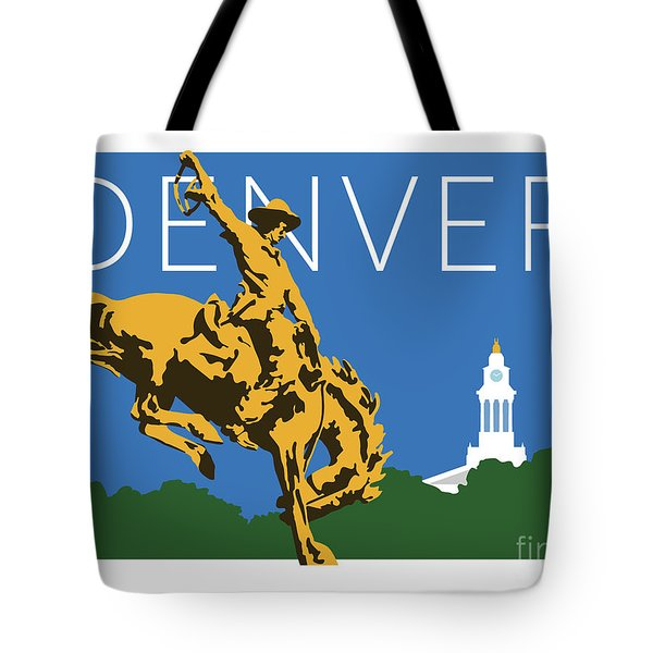 Denver Cowboy/dark Blue Tote Bag
