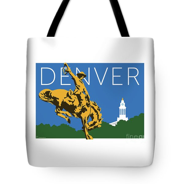 Denver Cowboy/dark Blue Tote Bag