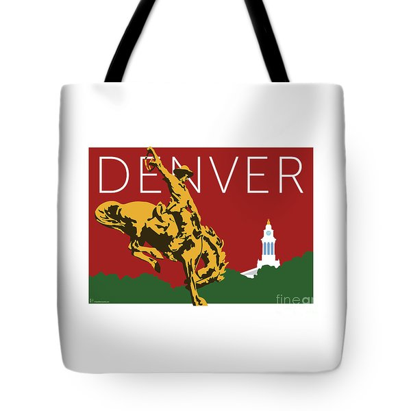 Denver Cowboy/maroon Tote Bag