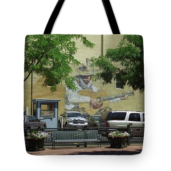 Denver Cowboy Parking Tote Bag by Frank Romeo