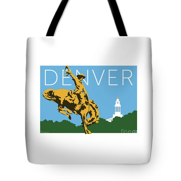 Denver Cowboy/sky Blue Tote Bag