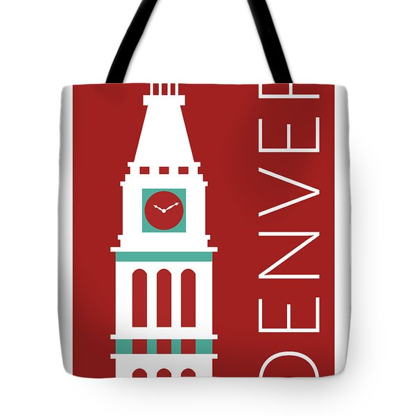 Denver D And F Tower/maroon Tote Bag
