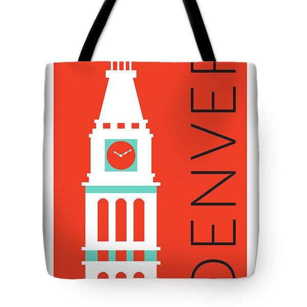 Denver D And F Tower/orange Tote Bag