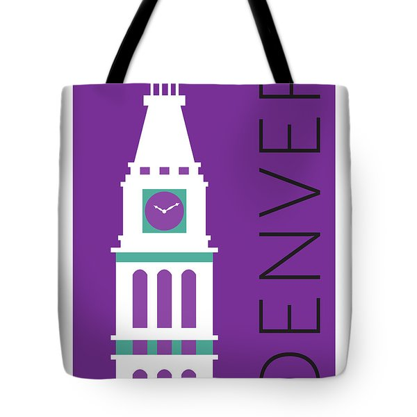 Denver D And F Tower/purple Tote Bag