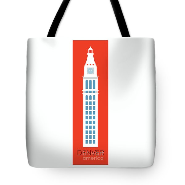 Tote Bag featuring the digital art Denver D And F Tower/tall by Sam Brennan