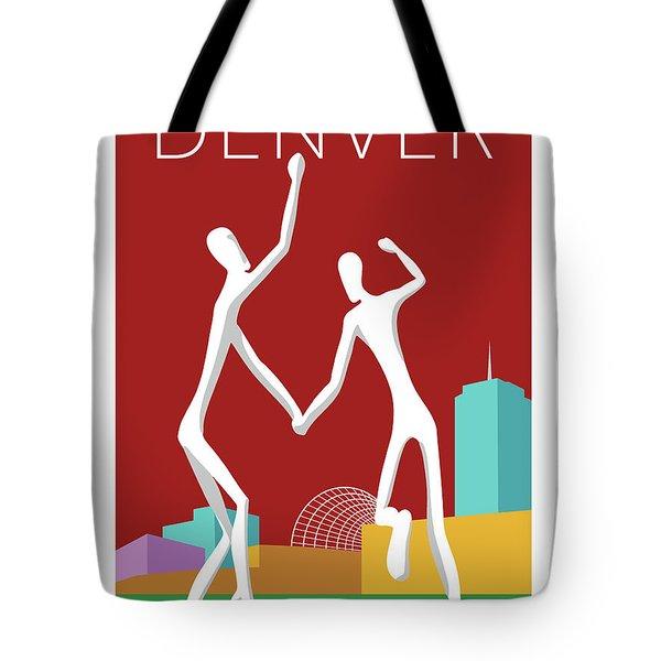 Denver Dancers/maroon Tote Bag