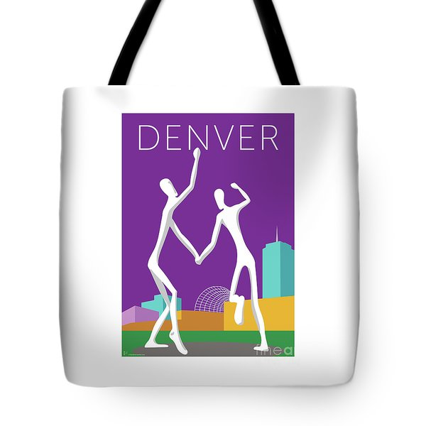 Denver Dancers/purple Tote Bag