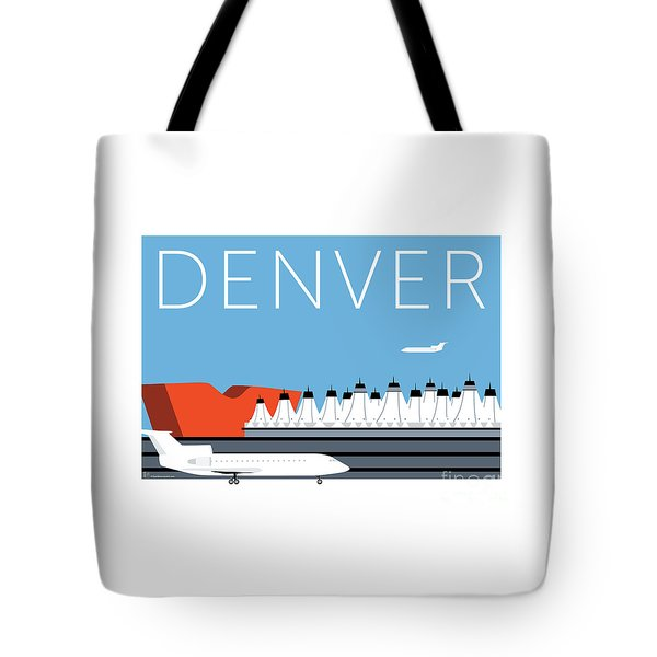 Tote Bag featuring the digital art Denver Dia/blue by Sam Brennan