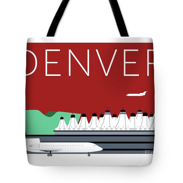 Denver Dia/maroon Tote Bag