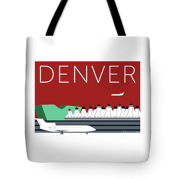 Denver Dia/maroon Tote Bag
