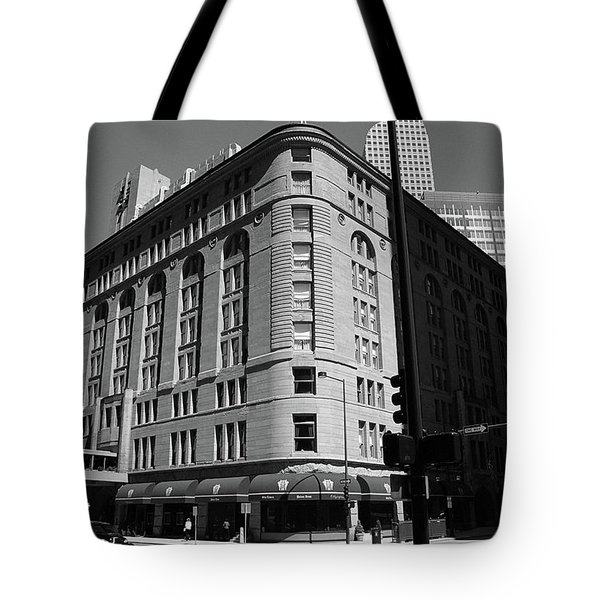 Denver Downtown Bw Tote Bag by Frank Romeo